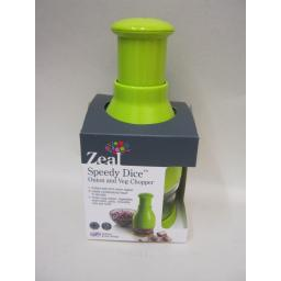 New Zeal Vegetable Onion Speedy Chopper Dicer Cutter Slicer Lime Green L84