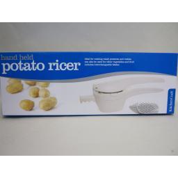 New Kitchen Craft Plastic Food Potato Press Masher Ricer 2 Blades KCRICERPLAS