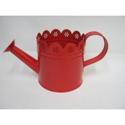 New Metal Plant Pot Watering Can Design Daisy Red