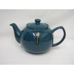 New Price And Kensington Pot Teapot 6 Cup Tea Pot 0056.743 Teal Blue