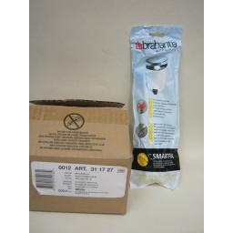 New Brabantia Bin Bags 3L 3 Litre Size A 12 Rolls of 20 Liners 240 liners