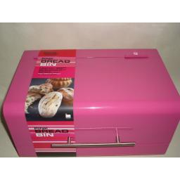 New Zeal Metal Retro Style Bread Bin Pink G123F