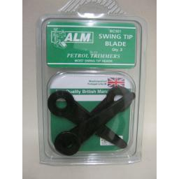 New ALM Swing Tip Plastic Blade To Fit Most Petrol Trimmers Pk3 BC301