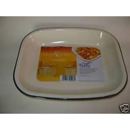 New Falcon Cream Enamel Bakepan Roasting Dish Bake Pan 26cm x 21cm