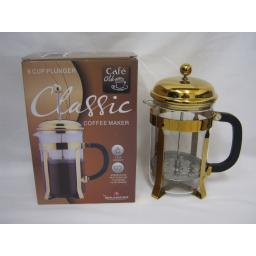 New Grunwerg Coffee Cafetiere Cafe Ole Gold 6 Cup TM08G