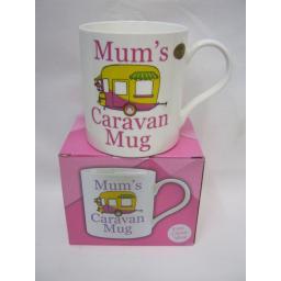 New Fine Bone China Mug Beaker Coffee Tea Cup Mum's Caravan Mug