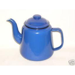 New Falcon Blue Enamel 14cm 1.5ltr Teapot Camping