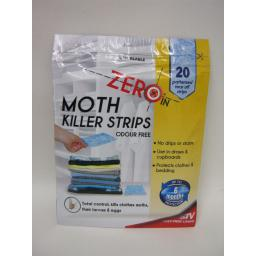 New STV Zero In Moth Killer Strips Odour Free Pk20 ZER429 6 Months Protection