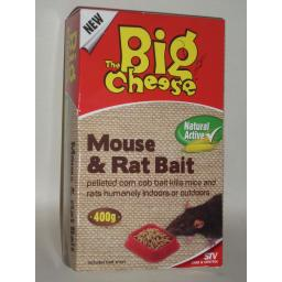 New Stv Big Cheese Mouse And & Rat Killer Bait Natural Active 400g