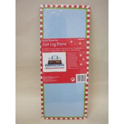 New Joyful Snowman Yule Christmas Log Cardboard Stand