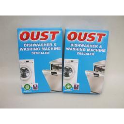 New Oust Limescale Descaler Dishwasher Washing Machine 2 x Boxes