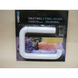 New Chef Aid White Plastic Toilet Roll Towel Holder 10E02260