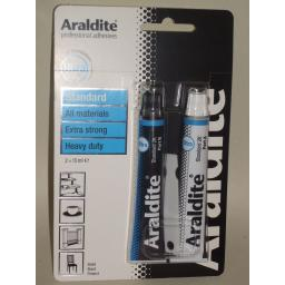 New Araldite Precision Strong Adhesive Glue 2 x15ml Blue