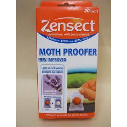 New Zensect Clothes Anti Moth Proofer Lavender Fragrance Balls Pk20