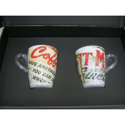 New Plexart Omada Tea Coffee Mugs Vintage Signs Pk2 M6082PA001