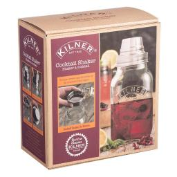 New Kilner Cocktail Drinks Shaker Clear Glass 1L 0025.788