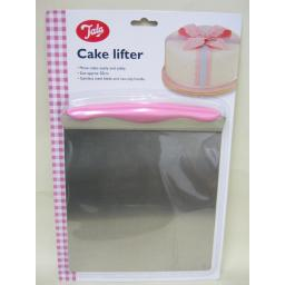 New Tala Stainless Steel Cake Lifter Pink Non Slip Handle 10A10164