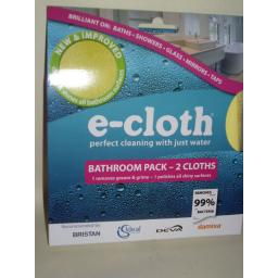New E-Cloth Bathroom Cleaner Cleaning Pack 2 x Cloths