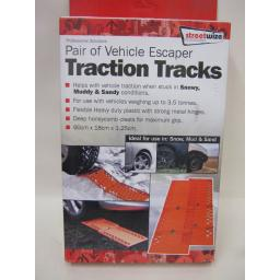 New Streetwize Traction Tracks Mats Pk2 Orange Vehicle Escaper SWVE