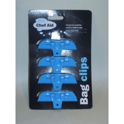 New Chef Aid Blue Bag Clips Set Of 4 W11563
