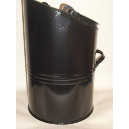 New Parasene Elipse Coal Scuttle Bucket Metal Hod Black 16""