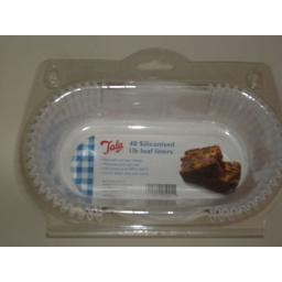 New Tala Non Stick Loaf Tin Cake Cases Liners Pk40 1LB