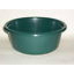 """New Lucy Green Small Round Plastic Washing Up Bowl 28cm 11"""" Slight Seconds"""