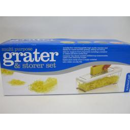 New Kitchen Craft Multi Purpose Grater And Storer Clear Acylic Box KCGRATEROB