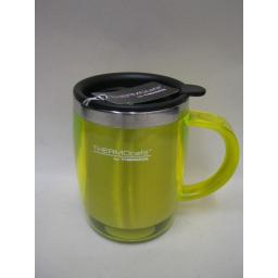 New Thermos Thermocafe Desk Travel Mug Beaker Cup 0.45L Lime Green