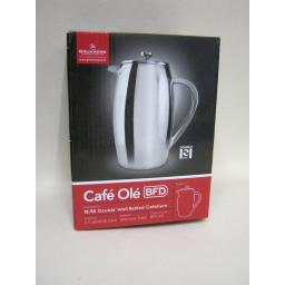 New Grunwerg Stainless Steel Double Walled Coffee Plunger Cafetiere 3 Cup BFD-03
