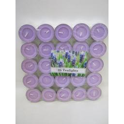 New Tealights Candles Fragranced Tea Lights Pk 25 Lavender