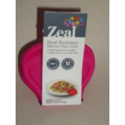 New Zeal Heat Resistant Silicone Handy Plate Grab Pink J136