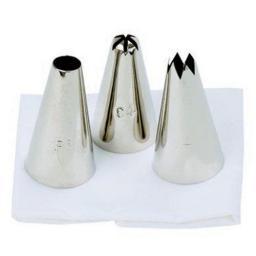 New Tala Icing Bag Food Piping Set of 3 Nozzles Potato 10A 09451