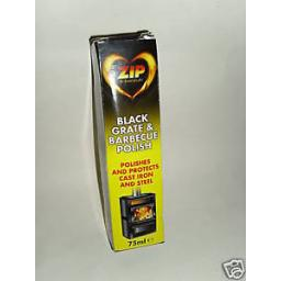 New Zip Black Grate Polish 75ml Tube Stove Bbq Fires Woodburners