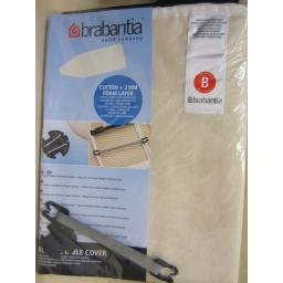 New Brabantia Cotton Ironing Board Cover B 124cm x 38cm Plain Cream