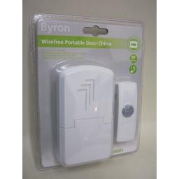 New Byron Wireless Cordless Door Bell Chime Kit 30M Range DB301