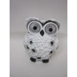 New Elgate Glow Buddies Resin Stone Small White Owl Led Lights 70370-000