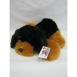 New Kuddli Friends Puppy Dog Wheat Lavender Heat Bag Black And Brown 34cm