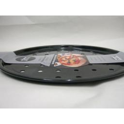 New Wham Vitreous Enamel Pizza Round Oven Tray Black 30cm 55225