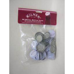 New Kilner Home Brew Beer Making Metal Crown Bottle Caps Tops Pk50