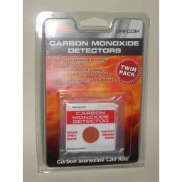 New Uni Com Carbon Monoxide Detector Patches Co2 Pack 2