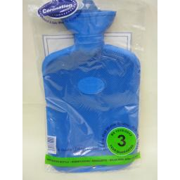 New Coronation Ribbed Both Rubber Hot Water Bottle 2L 3 Year Guarantee Blue