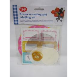New Tala Jam Pot Covers Preserve Sealing & labels Set 1lb Pots Jars Pink