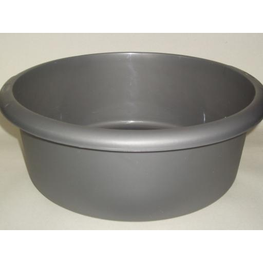 New Whitefurze Round Plastic Washing Up Bowl 34cm Large Silver