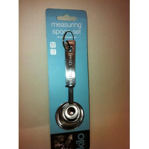 New Kilo Stainless Steel Measuring Spoon Set of 4 Spoons N109