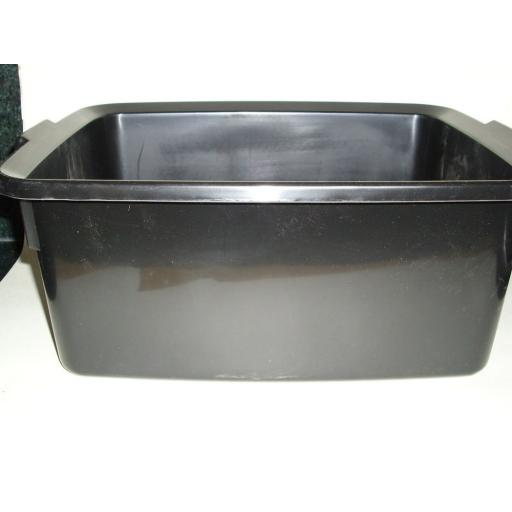 New Addis Black Oblong Plastic Washing Up Bowl 42cm Large 16.5 Inch