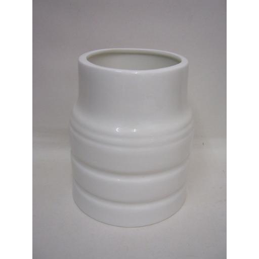New Wm Bartleet White Porcelain Utensil Pot Large Churn Style T306