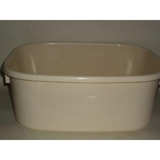 "New Lucy Beige Maize Large Oblong Plastic Washing Up Bowl 38cm 15"" Slight Second"