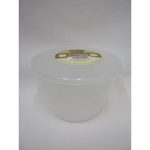 New Just Pudding Basins Plastic Pudding Bowl Basin And Lid 1 Pint 570ML