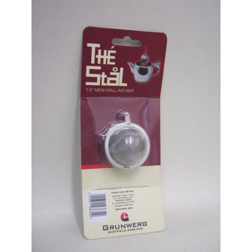 "New Grunwerg The Stal Stainless Steel Mini Mesh Ball Tea Strainer Infuser 1.6"""